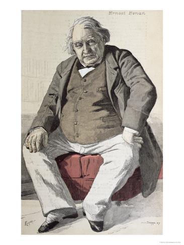 Portrait of Ernest Renan Giclee Print