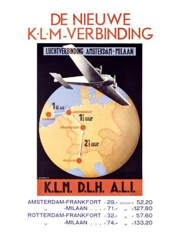 De Nieuwe, K.L.M. Verbinding Giclee Print