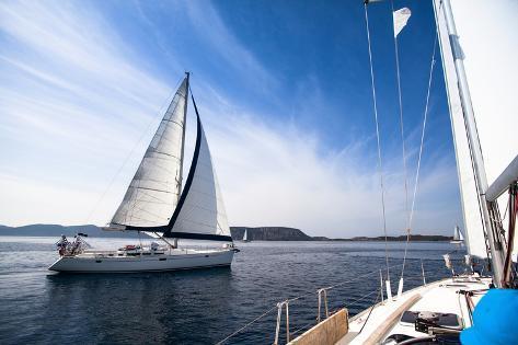 Regatta on the Sea. Sailboat. Yachting. Sailing. Travel Concept. Vacation. Photographic Print