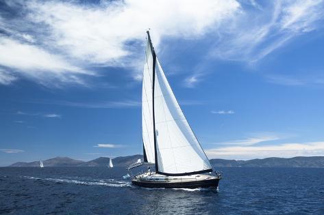 Sailing. Yachting. Luxury Yachts. Photographic Print