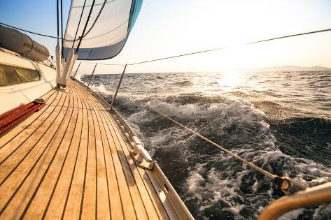 Yacht, Sailing Regatta. Luxury Yachts. Photographic Print