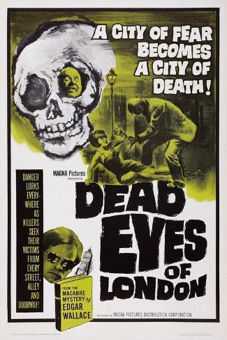 Dead Eyes of London, 1961 Konstprint