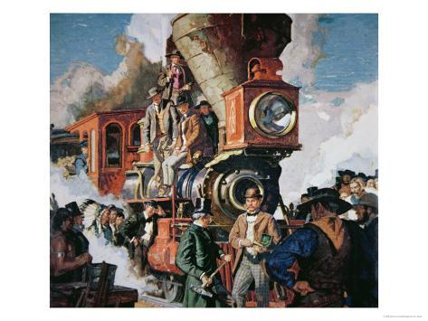 The Ceremony of the Golden Spike on 10th May, 1869 Giclee Print