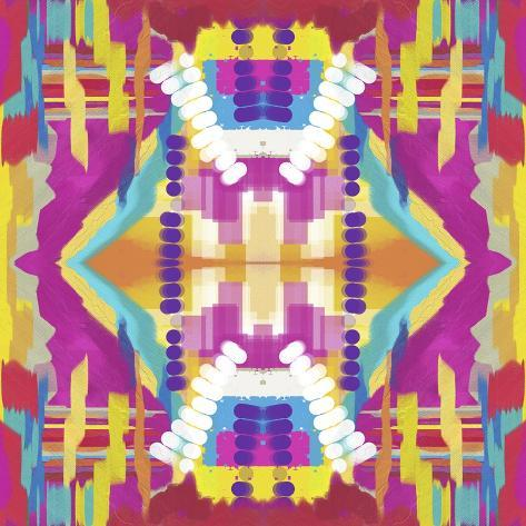 Abstract purple beads Giclee Print