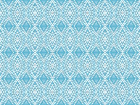 Blue Diamonds II Giclee Print