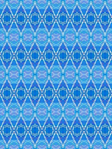 Blue Diamonds Giclee Print