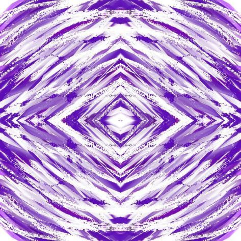 Purple with White Streaks Giclee Print