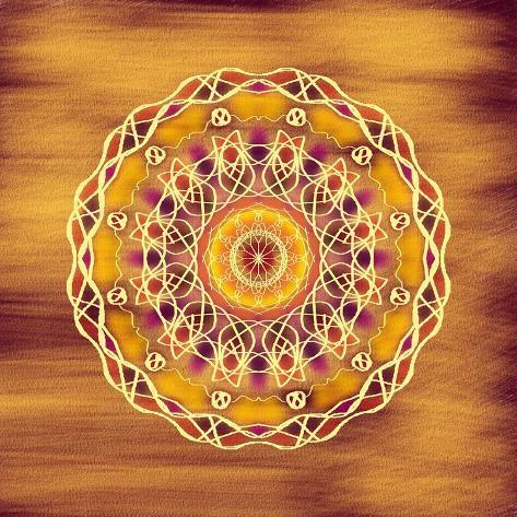 The Golden Disc Giclee Print