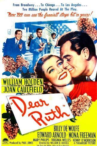 Dear Ruth, US poster, Joan Caulfield, William Holden, 1947 Art Print