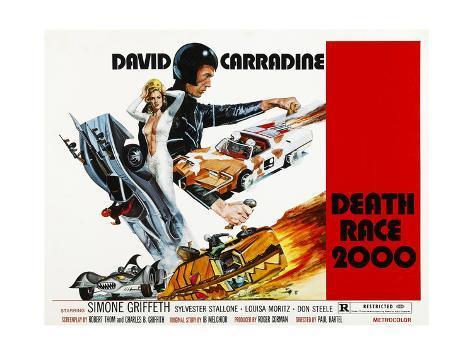 Death Race 2000, Simone Griffeth, David Carradine, 1975 Photo