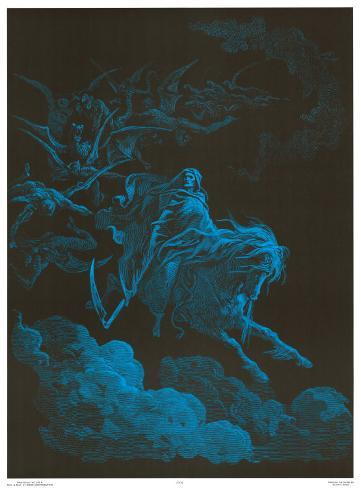 Death Rides a Pale Horse Blacklight Poster