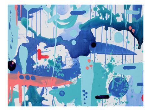 Abstract Drips Art Print