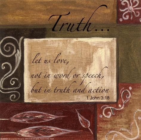 Words to Live By: Truth Art Print