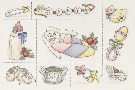 Baby Collage Giclee Print
