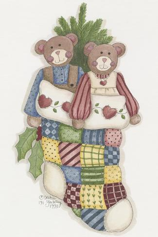 Bear Stocking Giclee Print