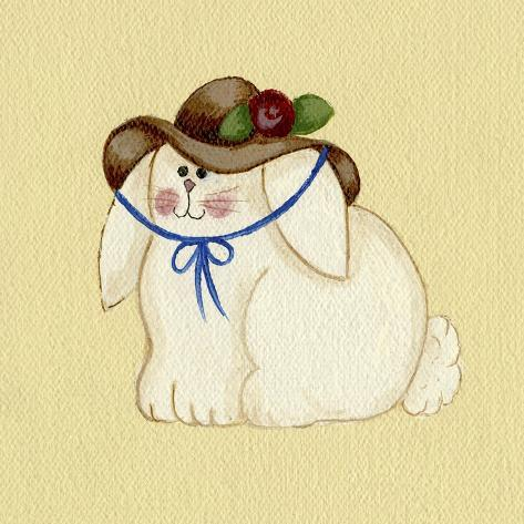 Bunny with Hat Giclee Print