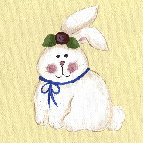 Bunny with Rose Giclee Print