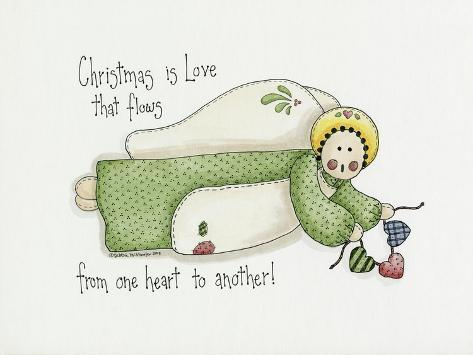 Christmas Is Love Angel Giclee Print