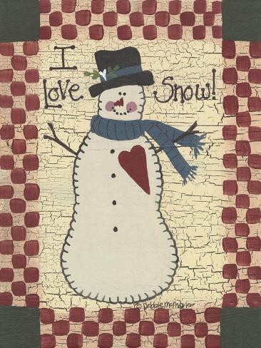 I Love Snow Giclee Print