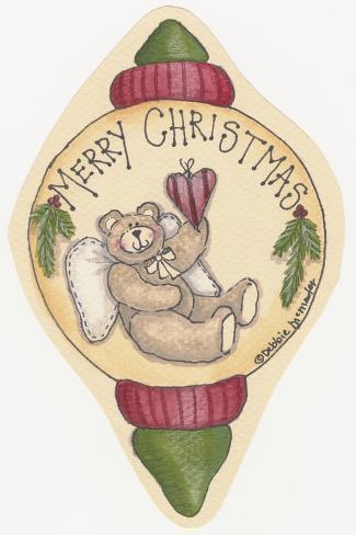 Merry Christmas Bear Giclee Print