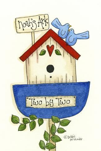 Noahs Ark Birdhouse Giclee Print