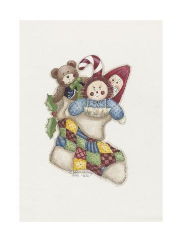 Stocking with Toys Giclee Print