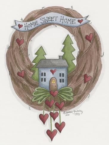 Sweet Home Wreath Giclee Print