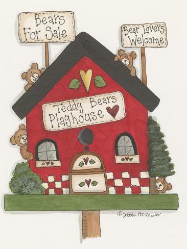 Teddy Bears Playhouse Giclee Print