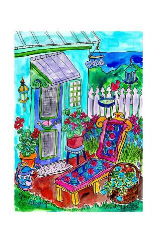Backyard Garden at the Beach Art Print