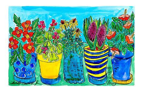 Potted Flower Garden Art Print