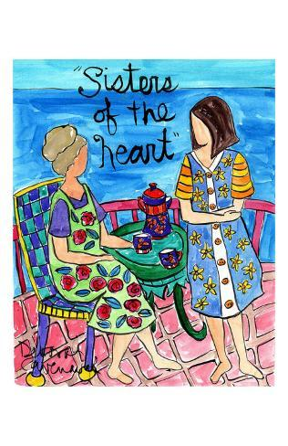 Sisters Tea Seaside Art Print