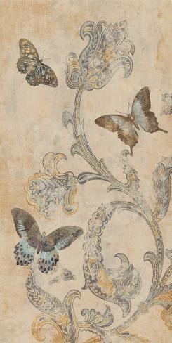 Papillion decoratif i stretched canvas print by deborah for Poster decoratif