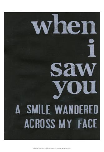 When I Saw You... II Art Print