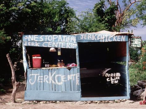 Jerk Chicken Stand, Negril, Jamaica Photographic Print
