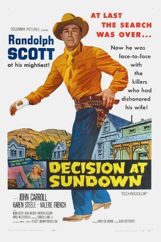 Decision At Sundown Masterprint