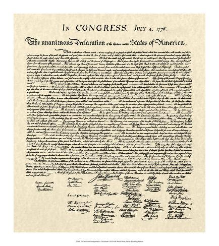 オールポスターズの declaration of independence doc ジクレープリント