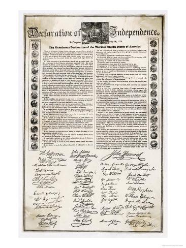 オールポスターズの declaration of independence document ジクレー