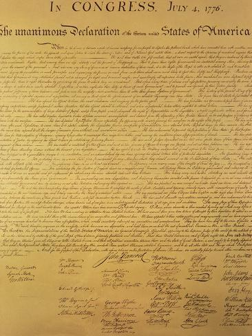 オールポスターズの declaration of independence of the 13 united