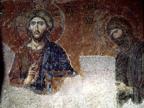 Deesis Christ with St. John the Baptist, Detail Giclee Print