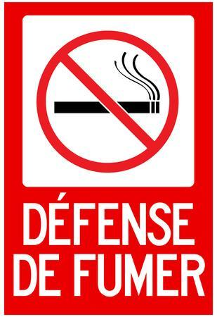 defense de fumer french no smoking sign poster posters at. Black Bedroom Furniture Sets. Home Design Ideas