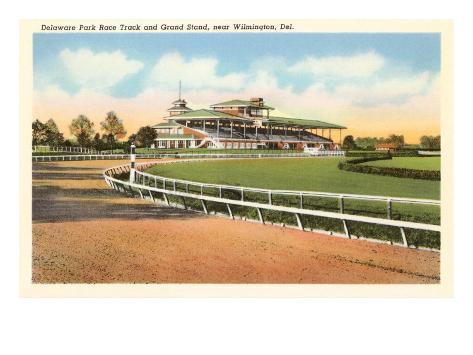 Delaware Park Race Track, Wilmington, Delaware Art Print