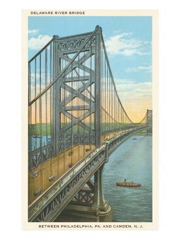 Delaware River Bridge, Philadelphia, Pennsylvania Art Print