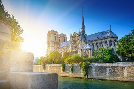 Notre Dame at Sunset - Paris Photographic Print