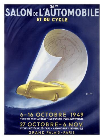 36th Salon de l'Automobile et du Cycle Giclee Print