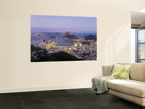 Botafogo and Sugarloaf Mountain from Corcovado, Rio de Janeiro, Brazil Giant Art Print