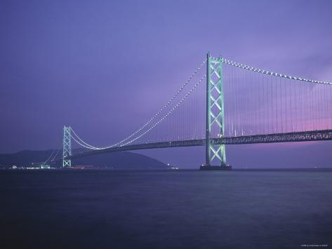 Honshu-Shikoku Bridge, Nr. Kobe, Japan Photographic Print