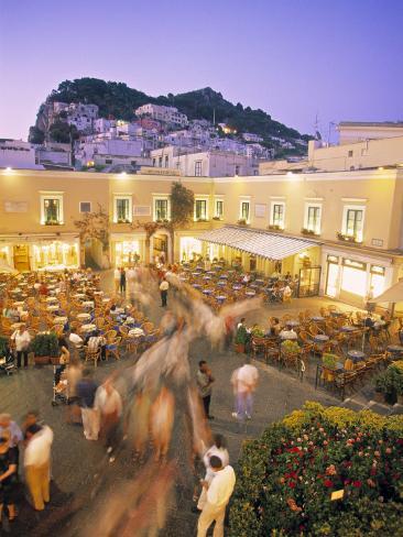 Piazzetta, Capri Town, Capri, Bay of Naples, Italy Photographic Print