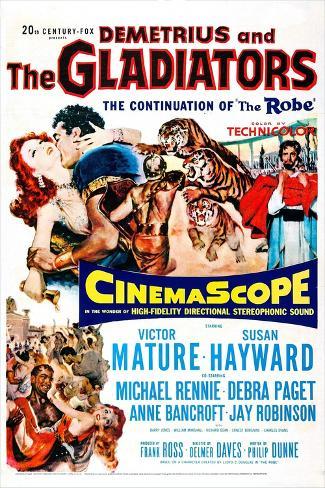 Demetrius and the Gladiators Art Print