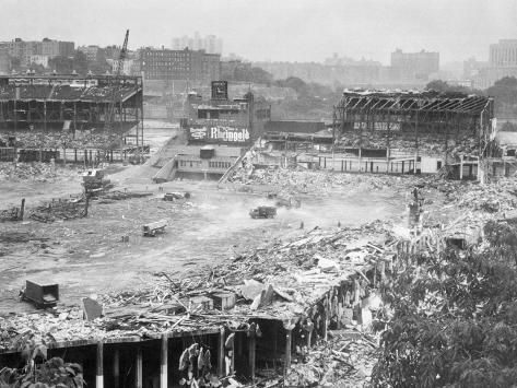 Demolition of Polo Grounds Photographic Print