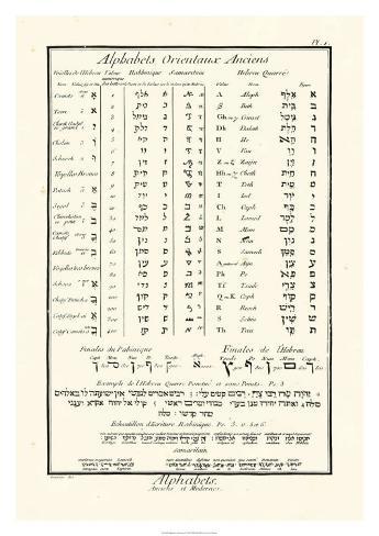 Alphabets Orientaux Giclee Print